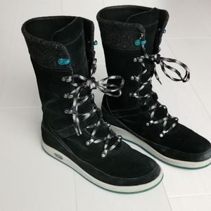 Waterproof Winter Suede Mid Boots wool 7.5